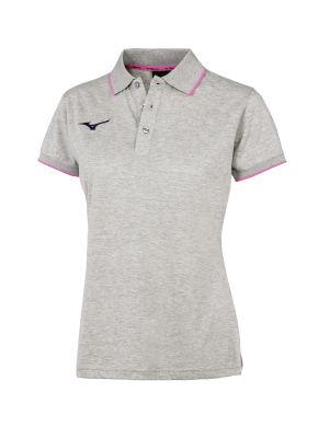 Polo Yaka Kadın T-Shirt Gri