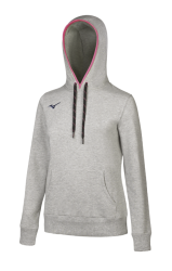 Mizuno Sweat Hoodie Kadın Sweat Gri - Thumbnail