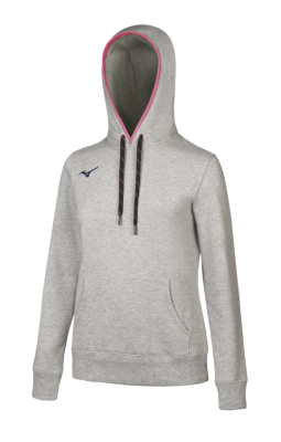 Mizuno Sweat Hoodie Kadın Sweat Gri