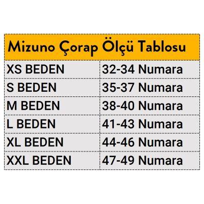 Mizuno Traning Mid 3P Unisex Çorap Beyaz/Siyah