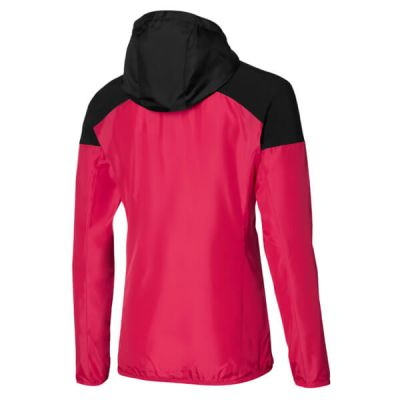 Hooded Jacket Kadın Yağmurluk Pembe/Siyah