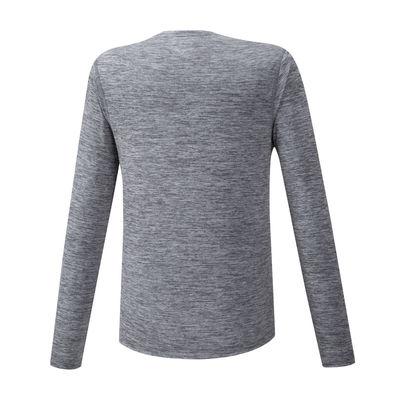 Mizuno Impulse Core LS Tee Erkek T-Shirt Gri