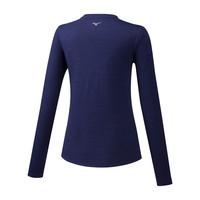 Mizuno Impulse Core LS Tee Kadın T-Shirt Lacivert - Thumbnail