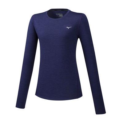 Mizuno Impulse Core LS Tee Kadın T-Shirt Lacivert