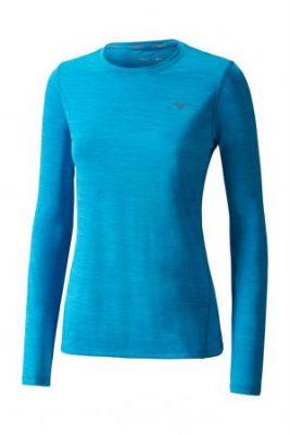 Mizuno Impulse Core LS Tee Kadın T-Shirt Mavi