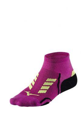 Mizuno Drylite Race Mid Unisex Çorap Pembe/Sarı