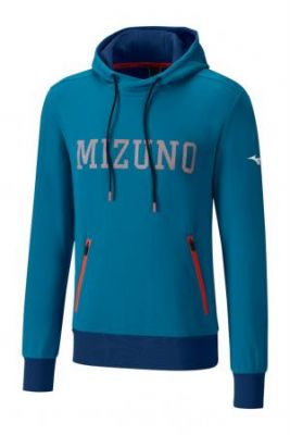 Mizuno Heritage Hoody Erkek Sweatshirt Mavi