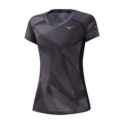 Mizuno Aero Graphic Tee Kadın T-shirt Siyah