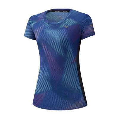 Mizuno Aero Graphic Tee Kadın T-shirt Lacivert