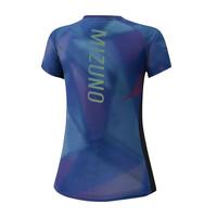 Mizuno Aero Graphic Tee Kadın T-shirt Lacivert - Thumbnail