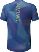 Mizuno Aero Graphic Tee Erkek T-shirt Mavi/Gri - Thumbnail
