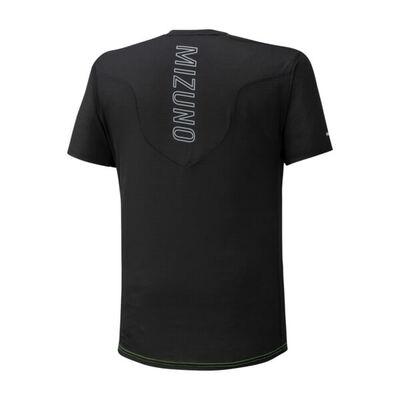 Mizuno Aero Tee Erkek T-Shirt Turuncu/Siyah