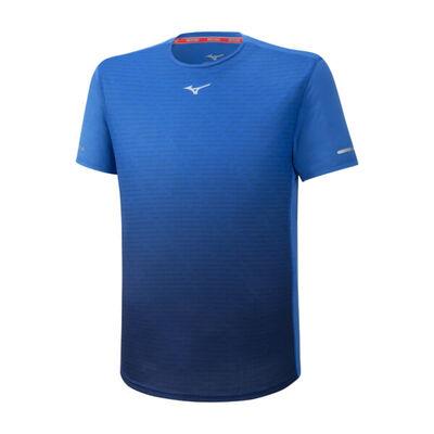 Mizuno Aero Tee Erkek T-Shirt Mavi