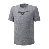 Mizuno Core Graphic Rb Tee Erkek T-Shirt Gri - Thumbnail