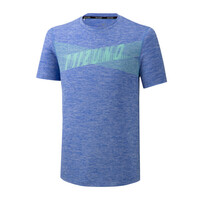 Mizuno Core Graphic Tee Unisex T-Shirt Mavi - Thumbnail