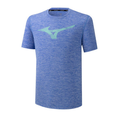 Mizuno Core Rb Graphic Tee Erkek T-Shirt Mavi
