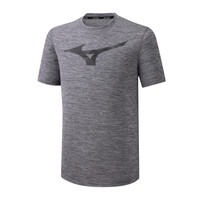 Mizuno Core Rb Graphic Tee Erkek T-Shirt Koyu Gri - Thumbnail