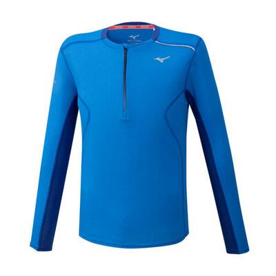 Mizuno Dry Aeroflow Ls Hz Erkek T-Shirt Mavi
