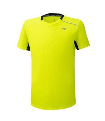 Mizuno Dry AeroFlow Tee Erkek T-shirt Sarı