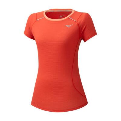 Mizuno Dry Aeroflow Tee Kadın T-Shirt Mercan