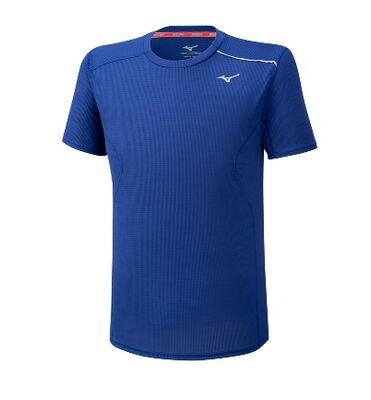 Mizuno Dry AeroFlow Tee Erkek T-shirt Mavi