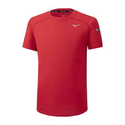 Mizuno Dry AeroFlow Tee Erkek T-shirt Kırmızı