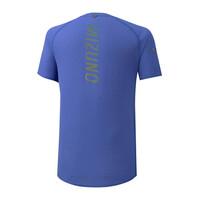 Mizuno Dry AeroFlow Tee Erkek T-shirt Mavi - Thumbnail
