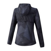 Mizuno Hoodie Jacket Kadın Yağmurluk Siyah - Thumbnail