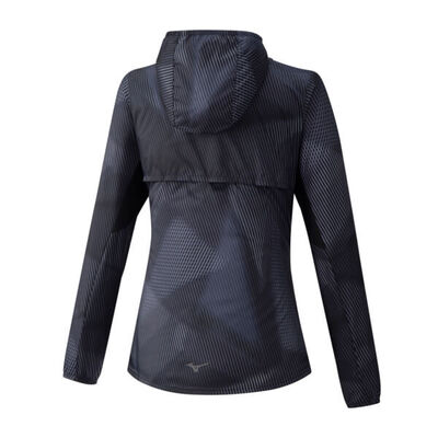 Mizuno Hoodie Jacket Kadın Yağmurluk Siyah
