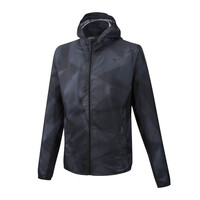 Hoody Jacket Erkek Yağmurluk Siyah - Thumbnail