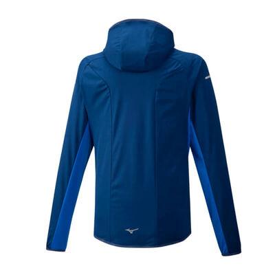 Mizuno Hybrid Bt Hoodie Erkek Yağmurluk Mavi
