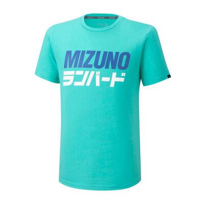Mizuno Runbird Tee Erkek T-Shirt Yeşil/Desenli