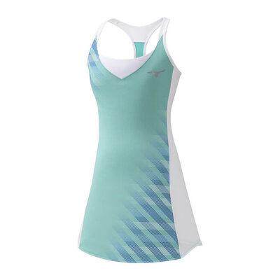 Mizuno Printed Dress Tenis Elbisesi Su Yeşili/Beyaz