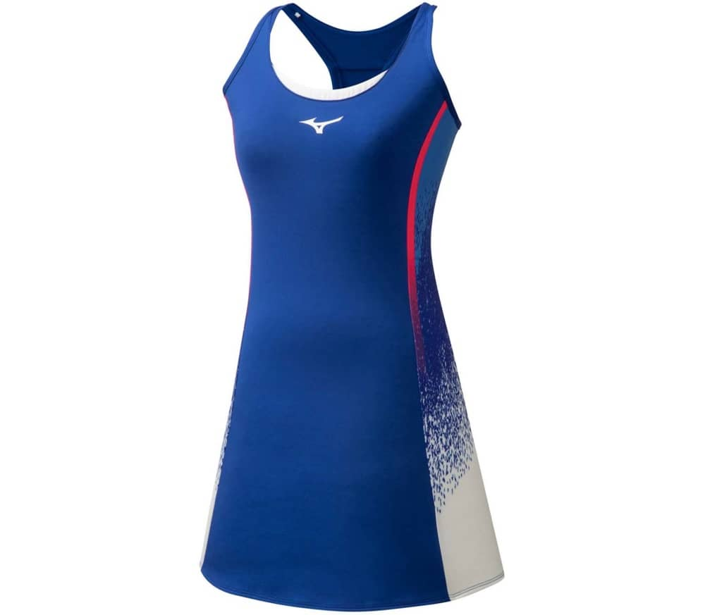 Mizuno Printed Dress Kadın Tenis Elbisesi Mavi - Thumbnail