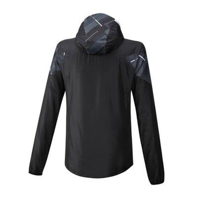 Mizuno Printed Jacket Erkek Yağmurluk Siyah/Desenli
