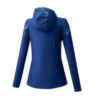 Mizuno Printed Jacket Kadın Yağmurluk Mavi/Desenli - Thumbnail
