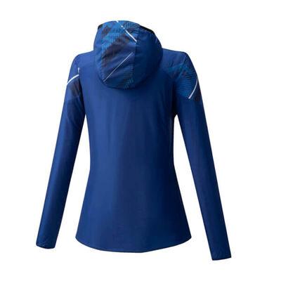 Printed Jacket Kadın Yağmurluk Mavi/Desenli