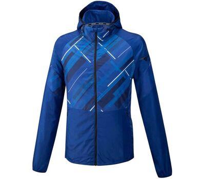 Mizuno Printed Jacket Erkek Yağmurluk Mavi