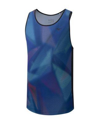 Printed Tank Erkek T-shirt Mavi