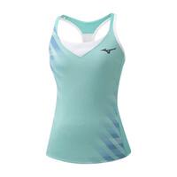 Printed Tank Kadın T-shirt Su Yeşili - Thumbnail