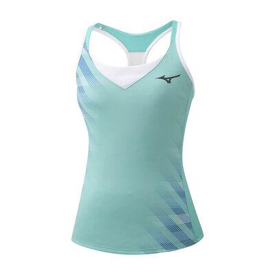 Printed Tank Kadın T-shirt Su Yeşili