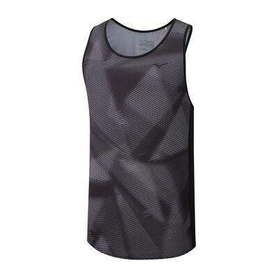 Mizuno Printed Tank Erkek T-shirt Siyah/Gri