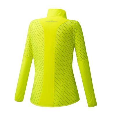 Mizuno Reflect Wind Jacket Kadın Yağmurluk Sarı