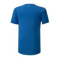 Mizuno Runbird Tee Erkek T-Shirt Mavi/Desenli - Thumbnail