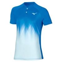 Mizuno Shadow Polo Erkek Tshirt Mavi/Beyaz - Thumbnail