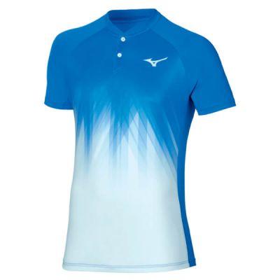 Mizuno Shadow Polo Erkek Tshirt Mavi/Beyaz