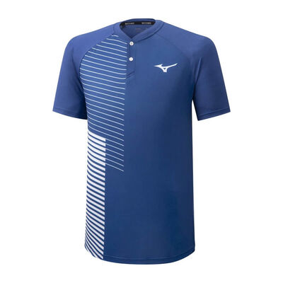 Mizuno Shadow Polo Erkek T-shirt Mavi/Beyaz