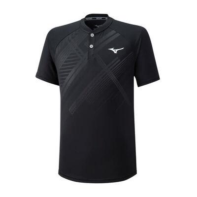Mizuno Shadow Polo Erkek T-Shirt Siyah
