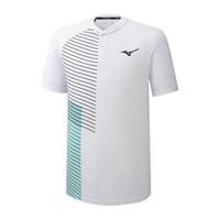 Mizuno Shadow Polo Erkek T-shirt Beyaz - Thumbnail