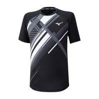 Mizuno Shadow Tee Erkek T-Shirt Siyah - Thumbnail